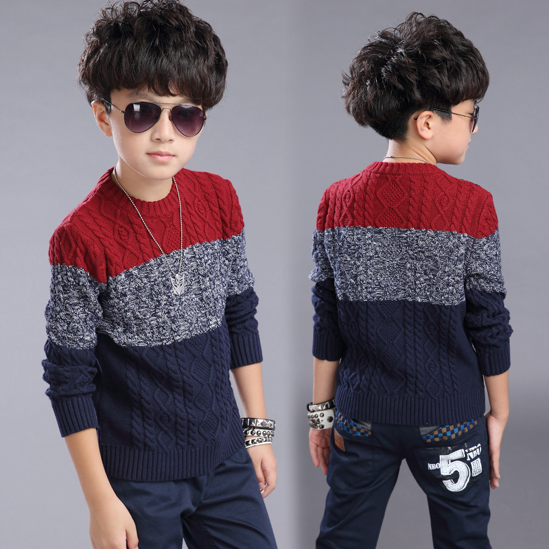 2015 Kids boys autumn clothing boys handmade sweater  the twist color sweater top dress outside coat of kid boys