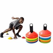 PE 10pcs/lot 19cm 7.41inch Cones Marker Discs Soccer Footbal