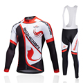 Осенний комплект одежды для велоспорта MTB  велосипедные майки с длинным рукавом  зимняя теплая флисовая куртка  комбинезон  одежда  Maillot Ciclismo