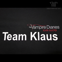 Vampire Diaries Team Klaus Men Male Straight Cut Short Sleeve T Shirt O Neck 100 180g