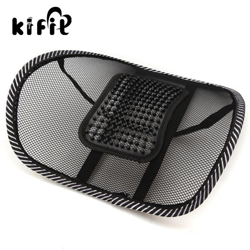 KIFIT Comfortable Car Chair Mesh Seat Back Support Lumbar Massage Cushion pad Waist Health Care Massager Tools new car seat office chair massage back lumbar support mesh ventilate cushion pad black high big size