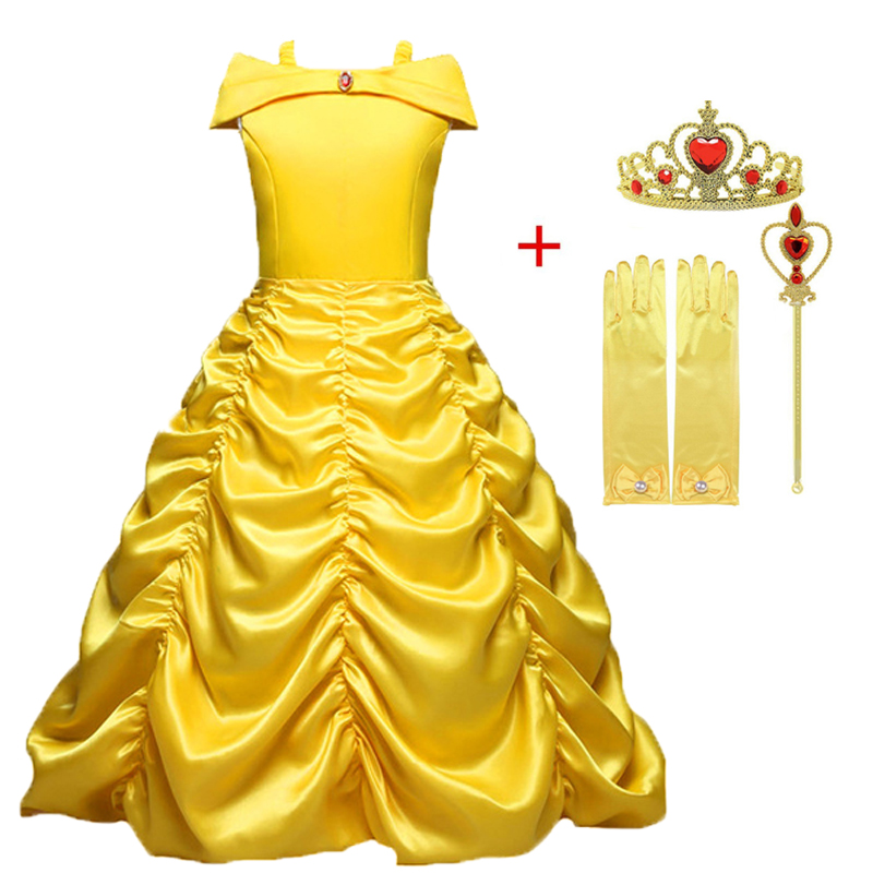 852f1df34e US $4.85 Kids Elsa Dress Magic wand Crown Girl Cosplay Clothes Party ...