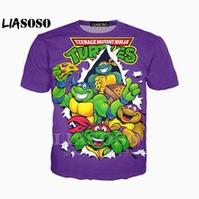 2bb02006 LIASOSO New Teenage Mutant Ninja Turtles T-shirt Men Women Leonardo Da  Vinci tshirt Raph