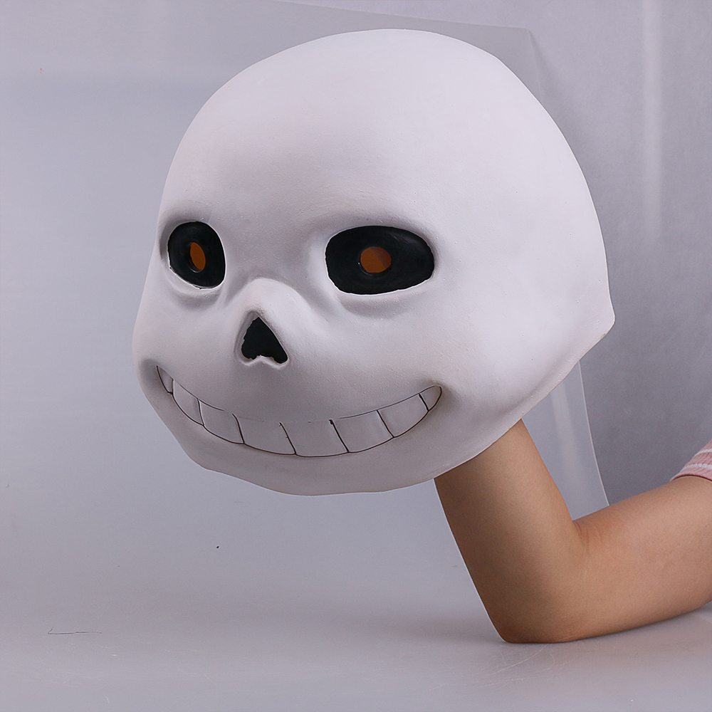Full head Undertale Sans Latex Masks Cosplay Funny White Helmets Shores Of Halloween Party Fancy Christmas Balls (5)