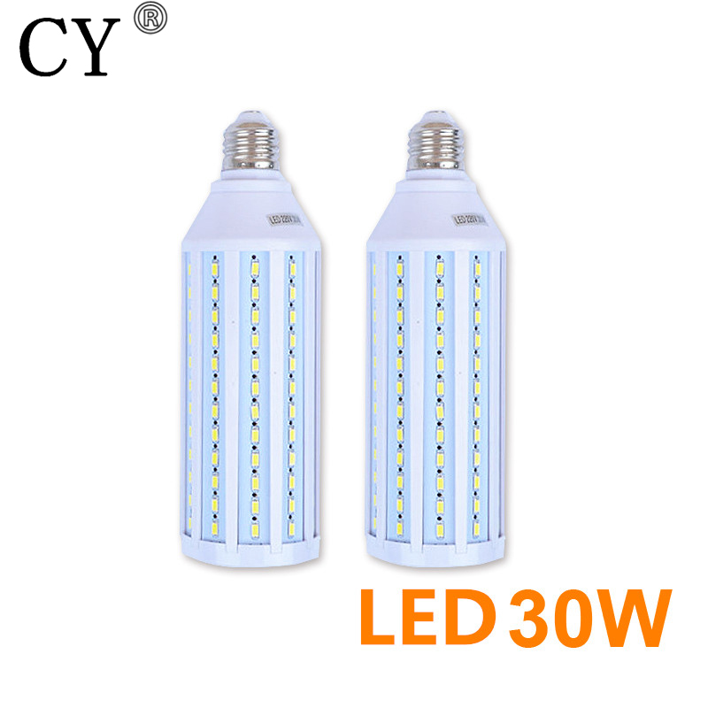 New 2pcs 30W 220v LED Corn Bulb & Tubes kit E27 5730 SMD Photo Studio Bulb Photographic Lighting