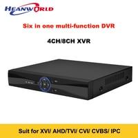 HeAnsmart New Home Mini CCTV NVR DVR AHD 4CH 8CH Full 1080P Hybrid Recorder SATA H