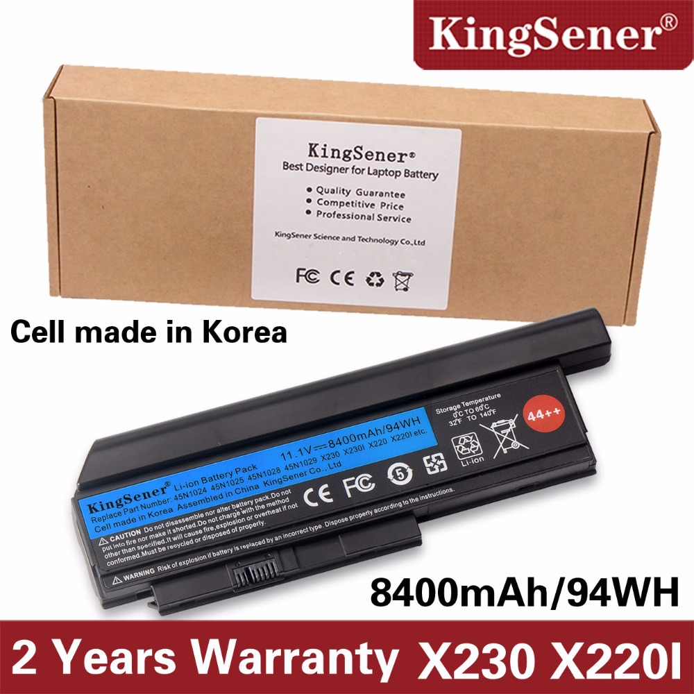 Corea Cell KingSener nuevo batería del ordenador portátil para Lenovo Thinkpad X230 X230I X220 X220I X220S 45N1029 45N1028 45N1172 45N1022 44 + +