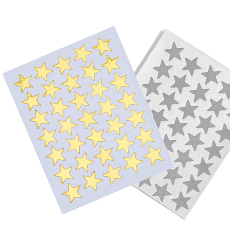 10pcs/pack Cute Gold Silver Mini Star Sticker Teacher Label Reward For Children Kid Students Gift School Office Supplies