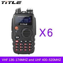 (6 PCS)Black KSUN protable radio UV-K4 Dual Band UHF VHF Two Way Radio walkie talkie