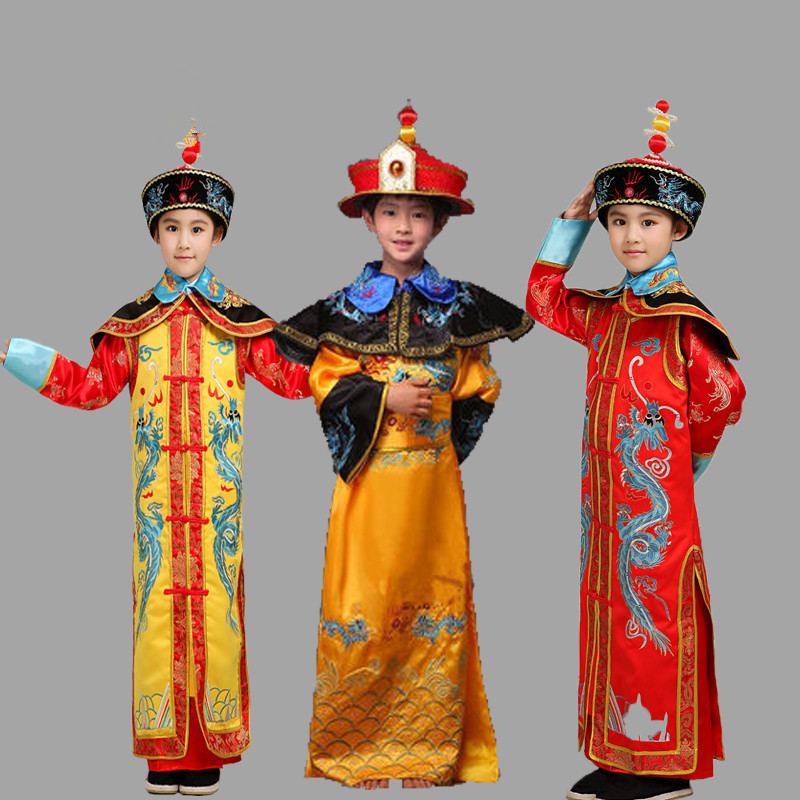 New Arrival qing dynasty emperor queen historical costume clothing of films and the emperor himself ancient costumes for kids