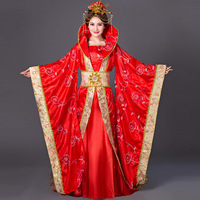 Halloween Costumes China Hanfu Traditional Ancient Chinese Costume Women Chinese Folk Dance Wear Tang Princess Queen
