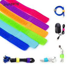 50Pcs Nylon Cable Winder Wire Organizer Management Wrapped Cord Line Magic Strap Tie for Earphone Mouse