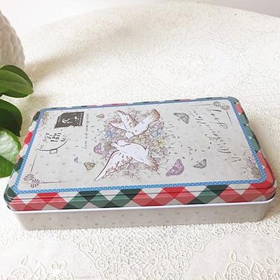 Cínová krabička Kovová schránka Šperky Pouzdro Candy Box dárkové pouzdro pohlednice