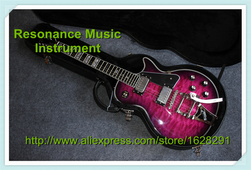Professional Customization Custom Ebony Fretboard LP Electric Guitar With Black Hardcase Together epiphone ltd matt heafy signature les paul custom ebony