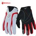Boodun alta calidad de los hombres antideslizantes guantes de conducción de verano guantes de protección solar del diseño del cortocircuito guantes de pantalla táctil completa