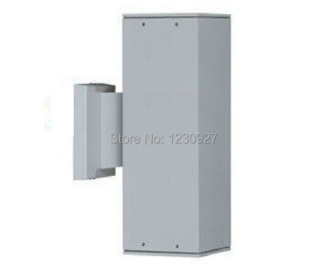 Diameter 90mm*260mm waterproof outdoor Square aluminum wall lighting fixtures with socket 2* E27 ...