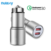 Nulaxy Car Charger Quick Charger 3 0 Dual Port USB Car Charger For Galaxy S7 S6