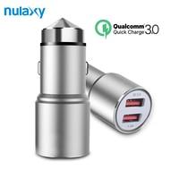 Nulaxy Dual USB Car-Charger Ricarica Rapida 3.0 Cellulare Caricabatteria Da Auto Caricabatteria Da Auto del telefono Auto Carica 2 Port 24 W per Samsung iPhone