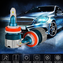 2019 New Integrated Mi2 Car LED Headlights H1 H4 H7 H11 9006 9005 Auto mini Headlamp Bulb 50W 6000LM 6500K white Fog lights цена и фото