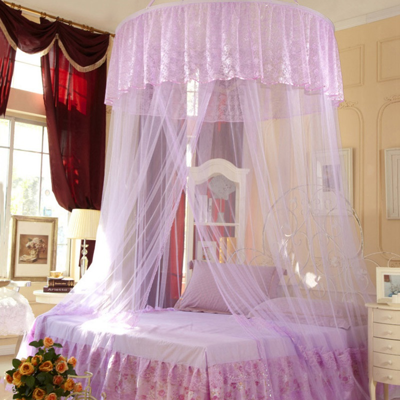 Best Selling Princess Insect Bed Canopy Netting Lace Canopy Bed Curtains  Hung Dome Mosquito Net For Girl Bed 3 Colors