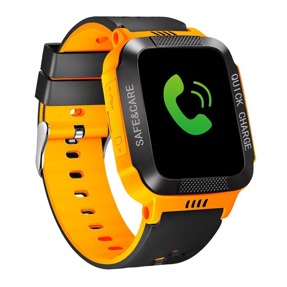 Y21S Bracelet intelligent avec caméra lampe de poche écran tactile montre intelligente SOS appel téléphonique GPRS Tracker SIM enfants montres