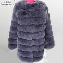 90CM longer section of natural fox fur coat