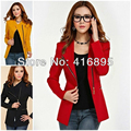 Blouson Bombers Femme New Women Long Sleeve POLO Neck Solid Slim Casual Suit Jacket Coat Zipper Bomber Jackets Plus Size XXL