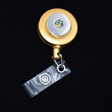 Newly Gold Snap Button Stretchable Eyeglass Holder ID Badge Holder Keychain Name Tag Holder Brooch Fit 18MM Snap Button