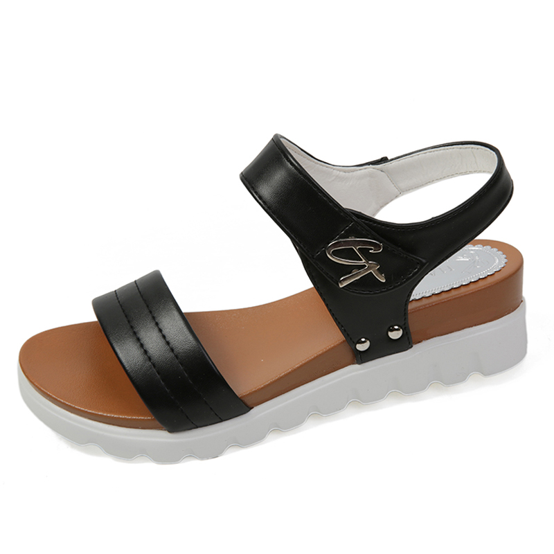 2017 Summer Wedge Sandals Women Shoes Comfortable Ladies Shoes Sandalias Mujer Platform Open Toes Shoes Woman Chaussure Femme 25 weweya casual gladiator female flats sandals 2017 new platform open toes shoes women summer wedges shoes woman sandalias sapatos