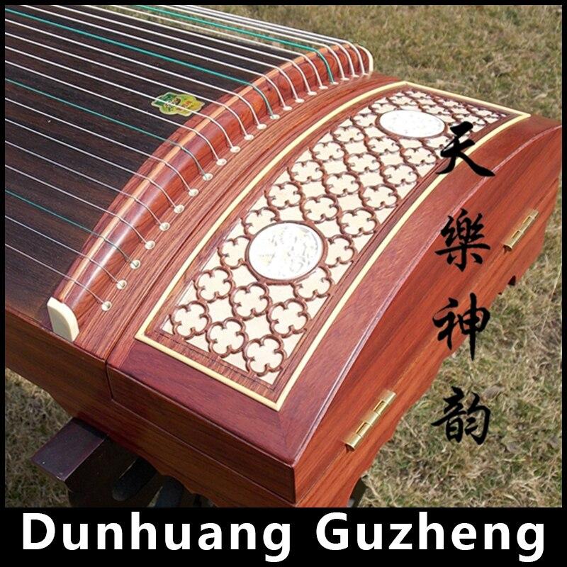 הסיני Rosewood Guzheng דונהואנג סין מקצועי משחק 21 מחרוזות מכשיר מוסיקלי מסורתית אתני ציתר נג 694KK
