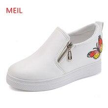 MEIL Hot sale Autumn Style Women Shoes Hidden Wedge Heels Womens Elevator Casual platform shoe