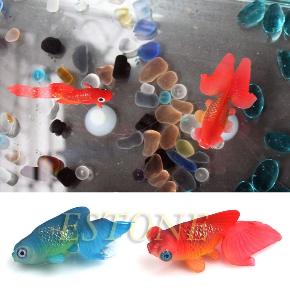 Dekor Goldfish Aquarium Decoration Konstgjord glödande effekt Fish - Produkter för djur