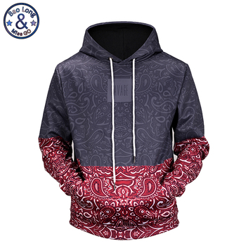 Mr.BaoLong new 2018 high quality Floral Stitching 3D printed men's hooded hoodies funny design drawstring hoodies man H64