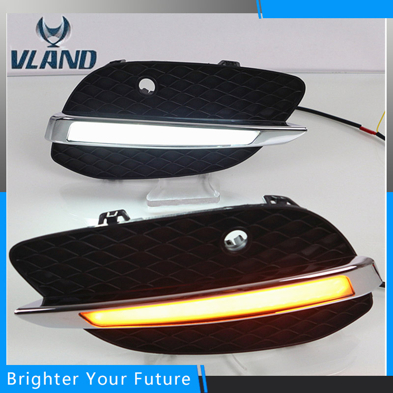 Front Fog Lamp DRL LED Daytime Running Lights For Mercedes Benz GLC X205 2015-2016 front fog light for mercedes benz w163 ml270 ml230 ml320 ml400 ml350 ml500 ml430 ml55
