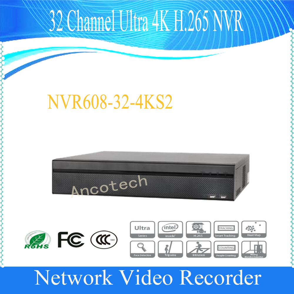 DAHUA 2016 NEW Product 32 Channel Ultra 4K H.265 Network Video Recorder Support 8 SATA HDD without Logo NVR608-32-4KS2 dahua nvr616r 128 4ks2 128 channel ultra 4k h 265 network video recorder nvr free shipping
