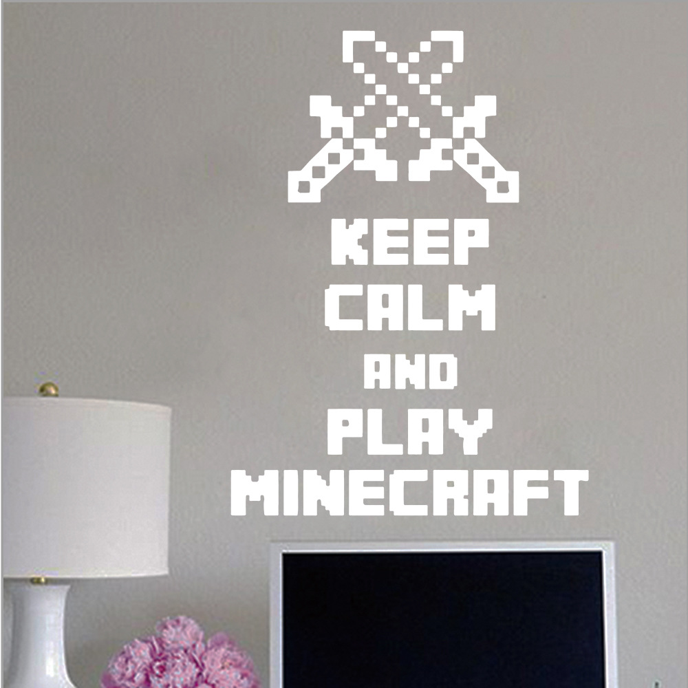 A028 minecraft my world wall stickers home decor vinyl wall decal wall art mural in wall - Minecraft home decor photos ...
