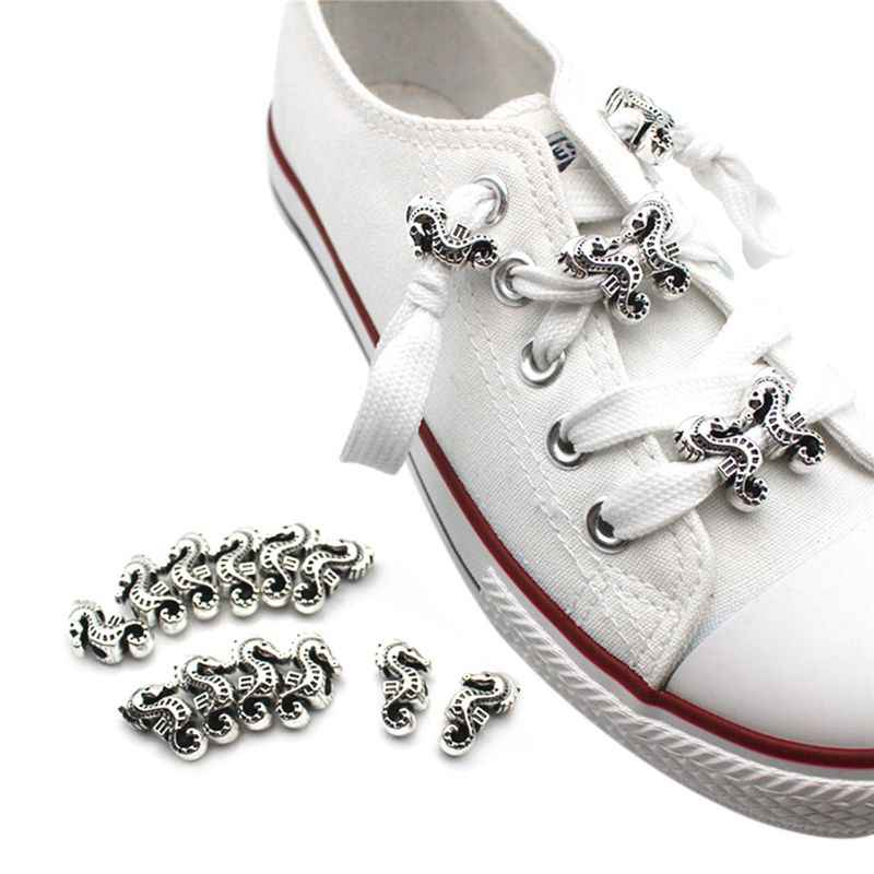 12pcs Shoelace Buckle DIY Shoes Decoration Hippos Clothes Jewelry Necklace Accessories Supplies Shoestrings Beads Handmade