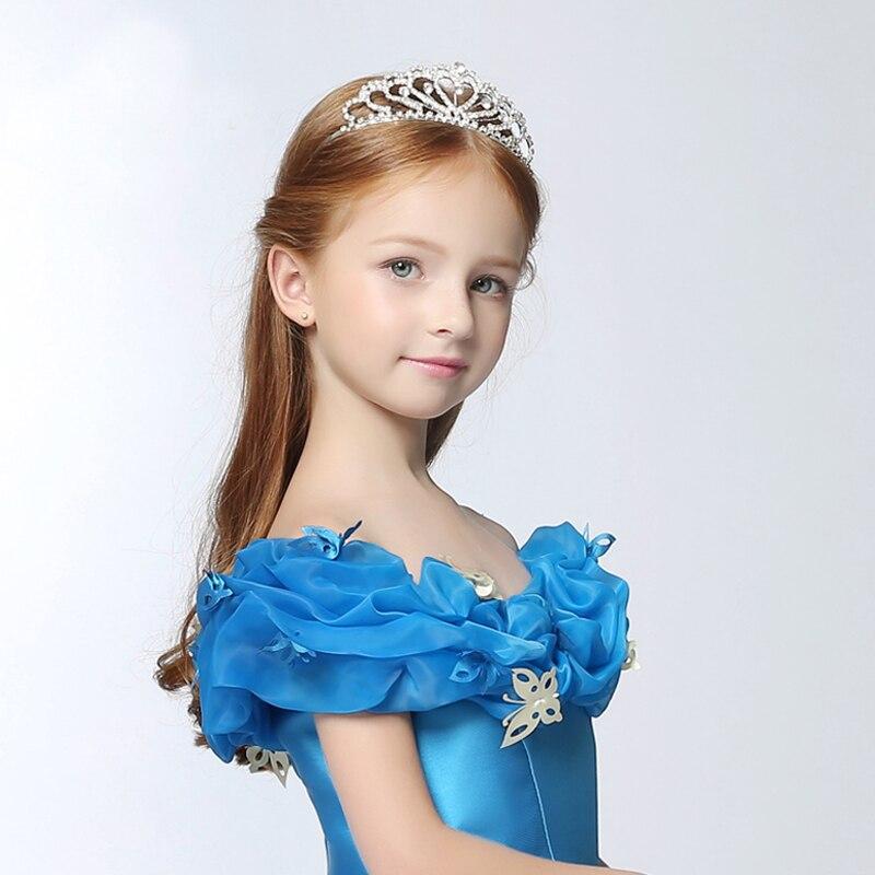 Золушка Принцесса Корона девушки, обручи для волос, подарок, дети, стразы, корона принцессы, стиль, рождественский подарок, диадемы для девоч...