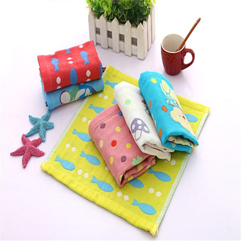 1PC 25*25cm Cartoon Towel For Kids Chidren Microfiber Absorbent Hand Dry Towel Kitchen Bathroom Soft Plush Dishcloths