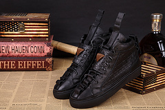 Patrick Mohr sneakers shoes casual high help black lace-up 39 male money - 46 South China foreign trade store
