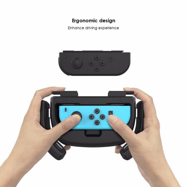 Gamesir W60S134 Racing Wheel Joy-Con Grip for Nintendo Switch, Wear-resistant Switch Joy-con Handle Protect Case, Black