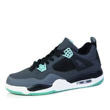 Мужские ботинки с высоким берцем баскетбольные Для Мужчин's подушки ретро Баскетбольные Кроссовки противоскользящие дышащие, для активного отдыха и спорта Спортивная обувь Jordan; кроссовки