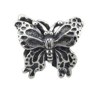 925 Sterling Silver Butterfly Charm Bead Fit Troll And Pan Bracelet Jewelry