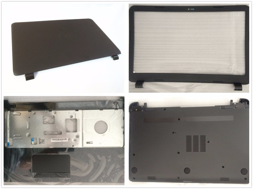 NEW Laptop LCD Back/Tampa Do Painel Frontal Para HP 250 255 256 G3 15-H 15-R 15-T 15-Z 15-G001XX 15-G010DX 760966 Palmrest/Inferior Base