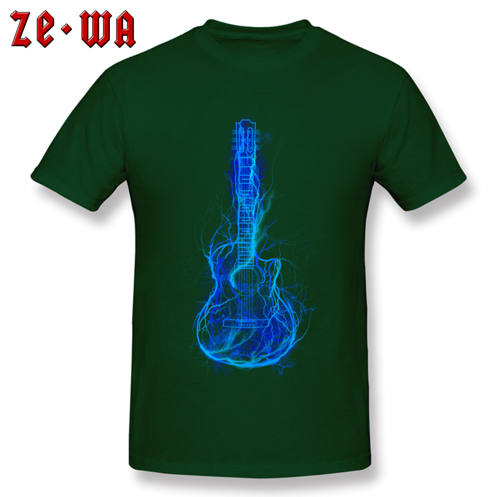Dominant Electric Guitar 3D Printed T-Shirt Crewneck 100% Cotton Men Tops T Shirt Short Sleeve Tee-Shirts NEW YEAR DAY Electric Guitar dark