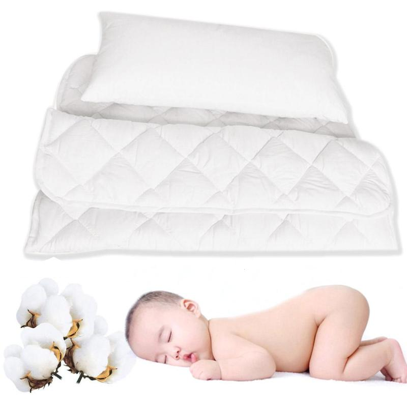 2pcs baby bedding set cotton quilt  white air conditioning quilt pillow children's bed sets include bed kit core+pillow core xv3