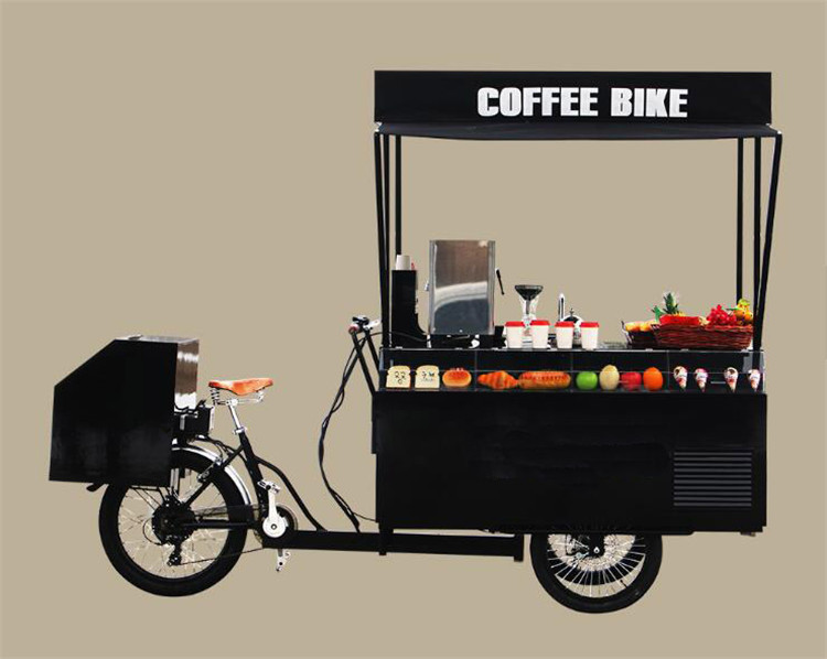 New Design Hot Sale Coffee Shop Mobile Cart Food Bike Tricycle