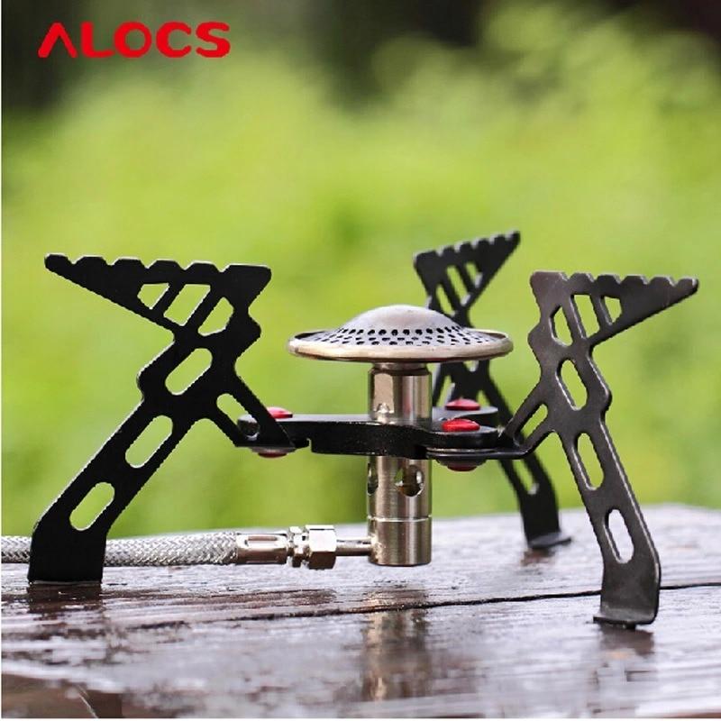 Alocs CS-G05 Camping Folding Lightweight Stove Phenix Split Portable BBQ Gas Furnace  Cook Cookware