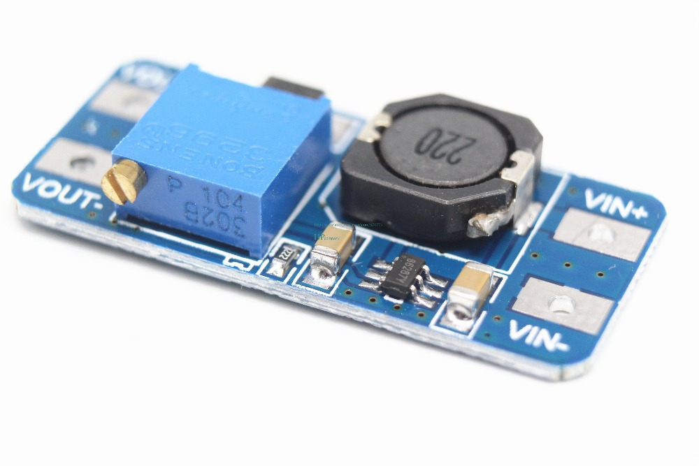 Image 4 - Free shipping 100PCS MT3608 2A boost plate DCDC boost module 2 24V up 5/9/12/28V adjustable-in Integrated Circuits from Electronic Components & Supplies
