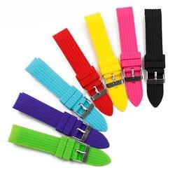 Для мужчин; силиконовый ремешок 20 мм пряжкой Смотреть аксессуары спорта водонепроницаемый резиновый ремень женский часы браслет